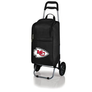 Kansas City Chiefs - Cart Cooler with Trolley (Black)
