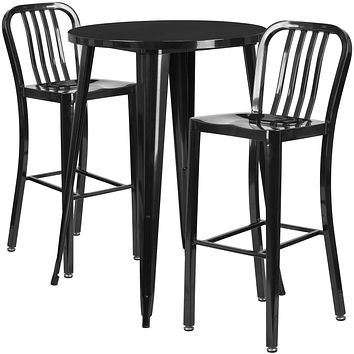 Indoor/Outdoor Industrial Style 3PC Pub Dining Set