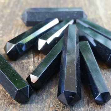 Obsidian Crystal Double Terminated Point ~ Perfect for Jewelry Making, Crystal Healing, Reiki, Energy Balancing, and Crystal Grids ~ SP12
