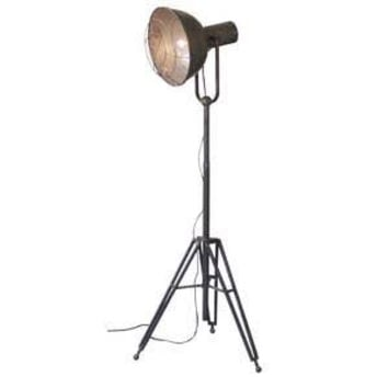 Kalalou Caged Industrial Studio Floor Lamp - CLL1120