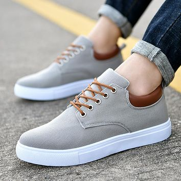 New Arrival Spring Summer Comfortable Casual Shoes Mens Canvas Shoes For Men Lace-Up Brand Fashion Flat Loafers Shoe 247
