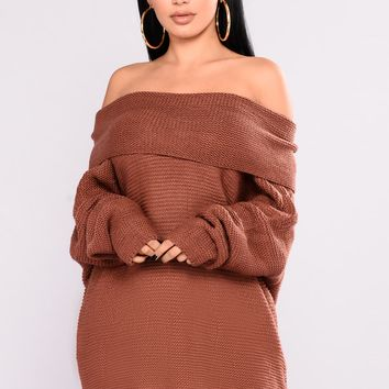 You're The One Oversized Sweater - Red Bean