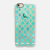 beautiful Casetify iPhone 7 Case | Mint Green Watercolor Diamond Pattern Design by Micklyn Le Feuvre (iPhone 6s 6 Plus SE 5s 5c & more)