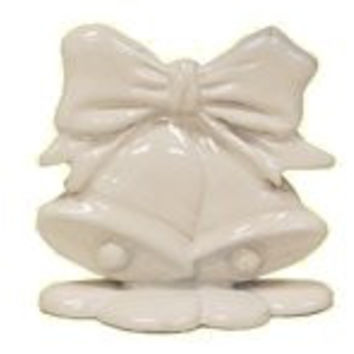 Set of 12 Place Card Holders - White Wedding Bells