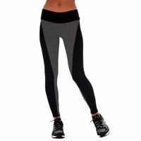 Sexy Leggings 2015 Women Sports Pants Elastic Exercise Tights Female Slim Sports Elastic Fitness Running Trousers Plus Size