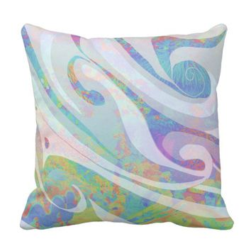 Abstract Colors Waves Design Throw Pillow