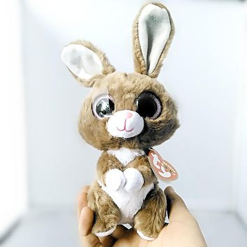 """Ty Beanie Boos Twinkle Toes the Bunny Plush 6"""" Beanie Babies Plush Stuffed Collectible Soft Big Eyes Plush Rabbit Doll Toy S95"""