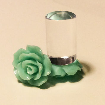 00g, 0g, 2g, 4g, 6g, 8g Mint Rose Plugs, Wedding Plugs, Bridal Jewelry, Bridesmaids, Formal Wear, Special Occasion