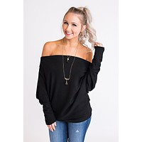 True Romance Off The Shoulder Top (Black)