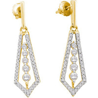 Diamond Fashion Earrings in 14k Gold 0.75 ctw