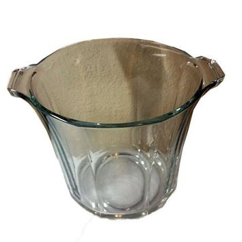 Heavy Glass Ice Bucket