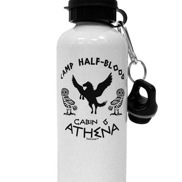Camp Half Blood Cabin 6 Athena Aluminum 600ml Water Bottle by TooLoud