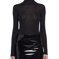TOM FORD Ribbed Silk Crepe Turtleneck Top and Matching Items
