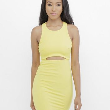 SUNSHINE BABY CUTOUT MINIDRESS