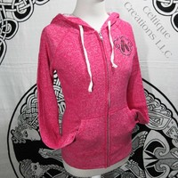 Small Pink Sweatshirt with Ghillie Dance Shoes and Celtic Heart Zip Up