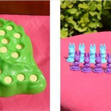 Family Friends party Board game Suzakoo Rabbit Racing children  Chess Intelligence Puzzle Toy AT_41_3