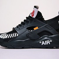 OFF WHITE x Nike Air Huarache Ultra   Basketball Sneakers