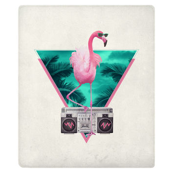 Flamingo Fleece Throw