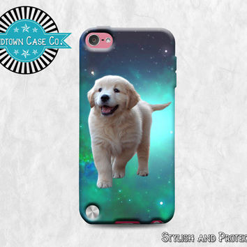 Puppy in Space Dog Galaxy iPod Touch 5th Gen Generation Rubber Case, Puppy in Space Dog Cute Galaxy iPod Touch 6th Gen Generation Rubber Cas