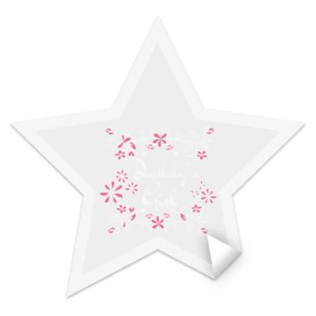 14 daddys girl TEST STST Star Sticker