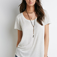 Boxy Wide Neck Tee