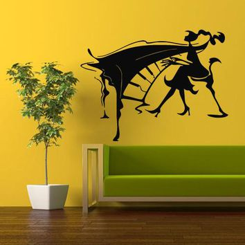 Wall Vinyl Decal Sticker Bedroom Decal Girl with Piano  z354