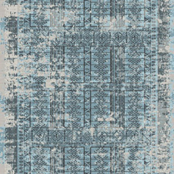 Made in turkey Como Collection CM305 L BLUE Area Rug Power loomed
