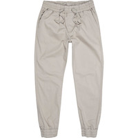 River Island MensLight grey jogger pants
