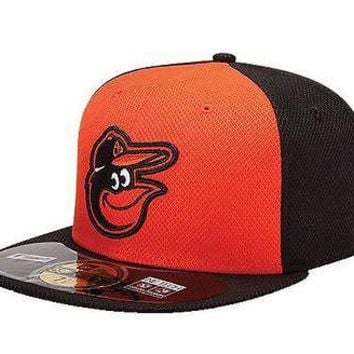Baltimore Orioles Fitted Hat New Era 59Fifty Baseball Cap Fitted