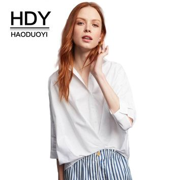 Women White Shirts Bating Sleeve Button Down Shirt Ladies Blouse Casual Work Wear Fashion Blouse Tops