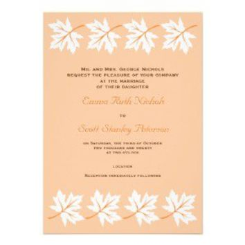 Elegant maple leaves fall/autumn wedding invites from Zazzle.com