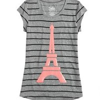 Eiffel Tower Graphic Long Tee   Girls Graphic Tees Clothes   Shop Justice