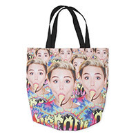 Miley Cyrus Official Store | Allover Ice Cream Tote Bag