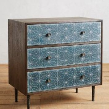 Boro Star Three-Drawer Dresser by Tracey Boyd Indigo One Size Furniture
