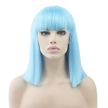 Heat Resistant Straight Short Wigs