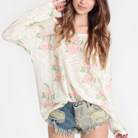 Briar Rose Oversized Sweater - $38.00 : ThreadSence, Women's Indie & Bohemian Clothing, Dresses, & Accessories