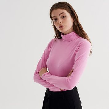 LO Basics Pink Turtle Neck