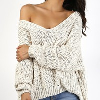 Cloud Knit Long Sleeve Sweater