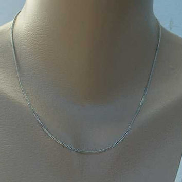 Sterling Silver Very Fine Curb Link Chain Necklace 18 inches Jewelry