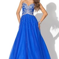 Buy 2012 floral Faddish Sweetheart Neckline Applique Paillette Blue Satin Organza Floor Length Prom Dress Online Cheap Prices