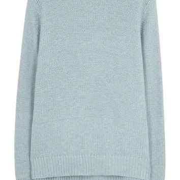 Le Kasha Light blue cashmere jumper