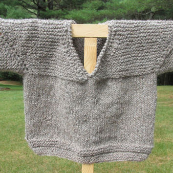 Alpaca and Wool Toddler Pullover Sweater
