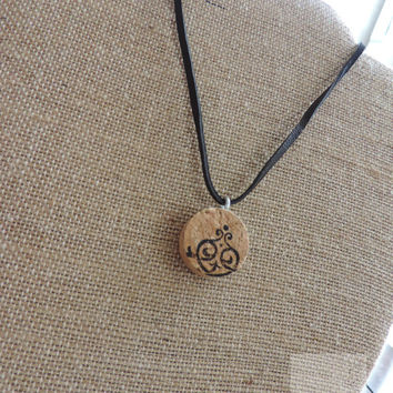 Real wine cork necklace Handcrafted in USA Ready to ship (N049)