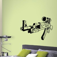 Wall Decal Vinyl Sticker AK-47 Gun Weapon Military Decor Sb443