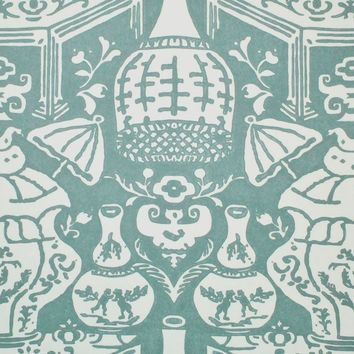 Clarence House Wallpaper 6801-17 The Vase Teal