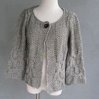 Shina Novelli Noba Alpaca Wool Cable Knit Cardigan S