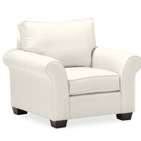 PB Comfort Roll Upholstered Box-Edge Cushion Armchair