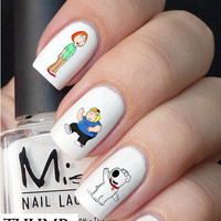 Family Guy nail decals nail decal nail art nail sticker
