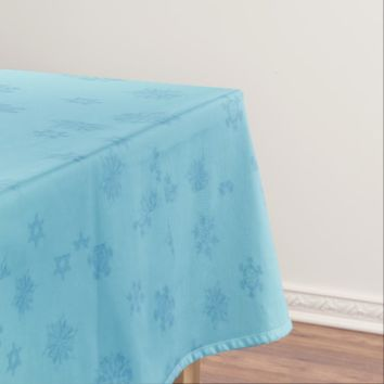 Blue Snowflakes Tablecloth