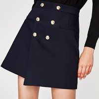 SKIRT WITH GOLD BUTTONS DETAILS